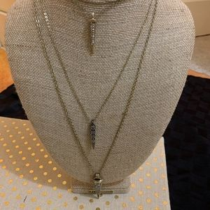 Chloe + Isabel Three Row Convertible Necklace